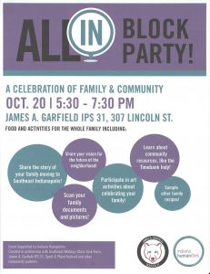 All In Block Party October 20th
